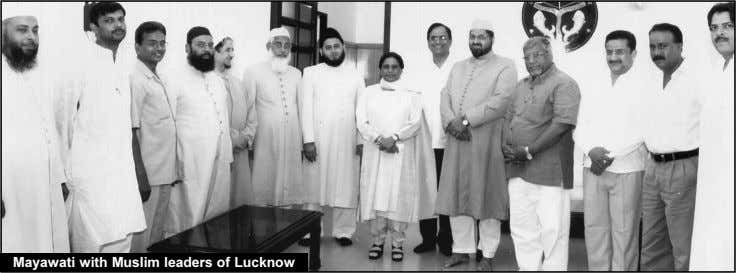 Mayawati with Muslim leaders of Lucknow