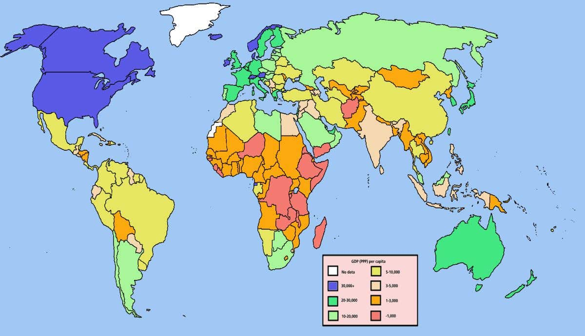 by GDP (PPP) per capita, based on the 2004 IMF data Sumber : Parkin, Miller, Quijano,