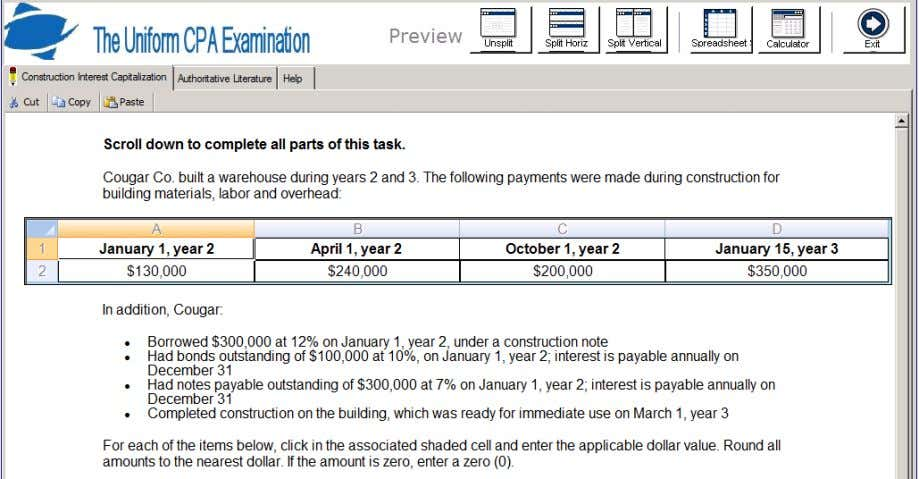 2011 AICPA Newly Released Questions – Financial Task 618_01 57