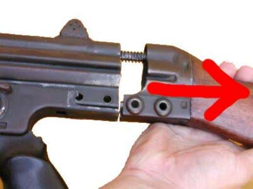 CETME for dummies - Field Stripping Now, a gentle pull will release the buttstock assembly. We'll