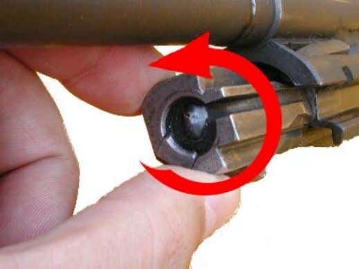 CETME for dummies - Field Stripping Now, we'll rotate the bolt head counterclockwise 180°. This can