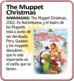 The Muppet Christmas ANIMADAS: The Muppet Christmas, 2002. Es Nochebuena, y el teatro de los