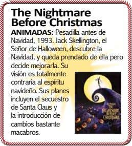 The Nightmare Before Christmas ANIMADAS: Pesadilla antes de Navidad, 1993. Jack Skellington, el Señor de