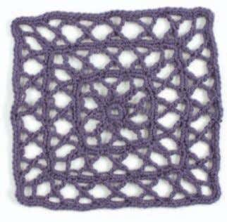 "of Around the Corner: Crochet Borders (Storey, 2010). Making Links Kristin Omdahl FINISHED SIZE 12"" by"