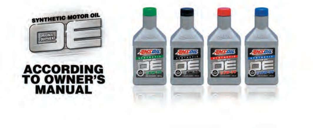 Three Tiers of AMSOIL Quality Choose your oil drain interval. For those who want the absolute