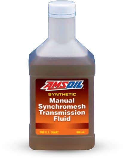 MTG Synthetic Manual Transmission and Transaxle Gear Lube Designed to meet the special requirements of certain
