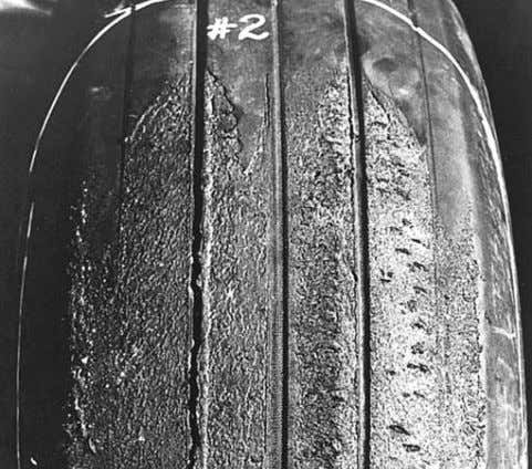 Tires with this defect should be removed from service. 26 Tread Rubber Reversion An oval-shaped area