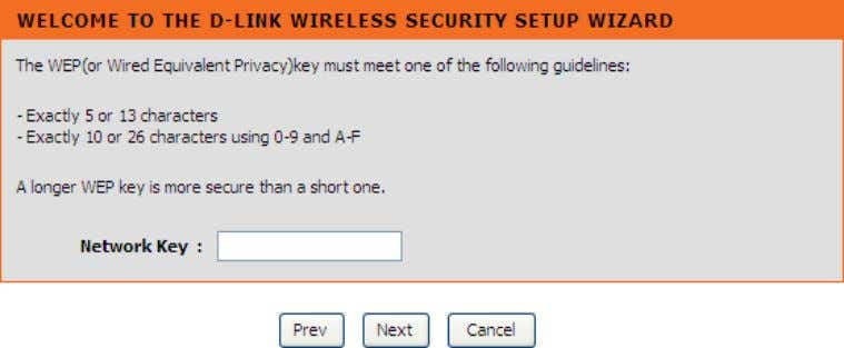 setting. Click Cancel button to return to the ma in menu of Wireless Setup page. D-Link