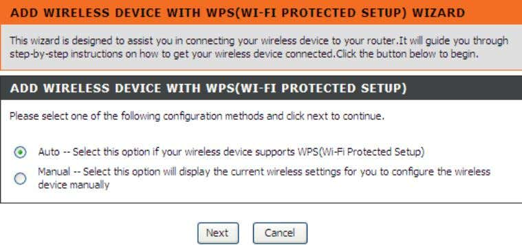 button to return to the ma in menu of Wireless Setup page. Add Wireless Device with