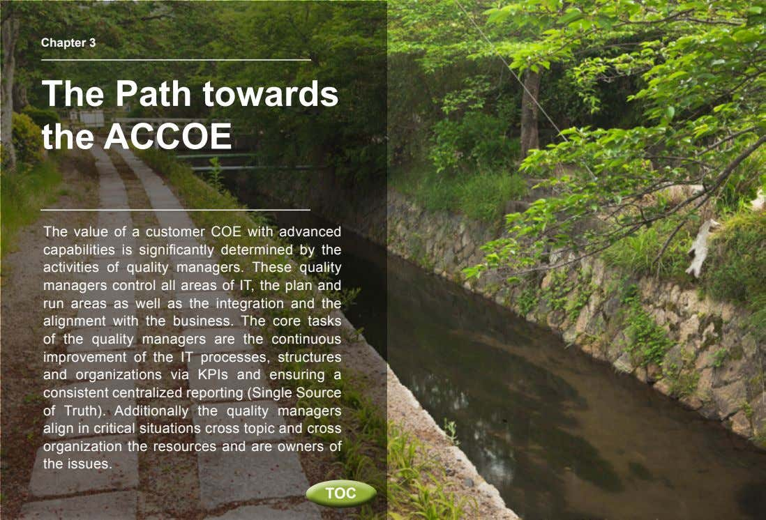 Chapter 3 The Path towards the ACCOE The value of a customer COE with advanced
