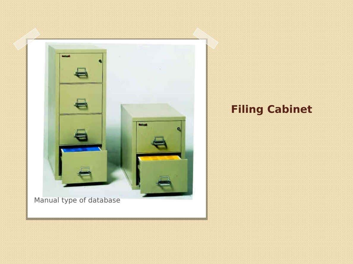 Filing Cabinet Manual type of database