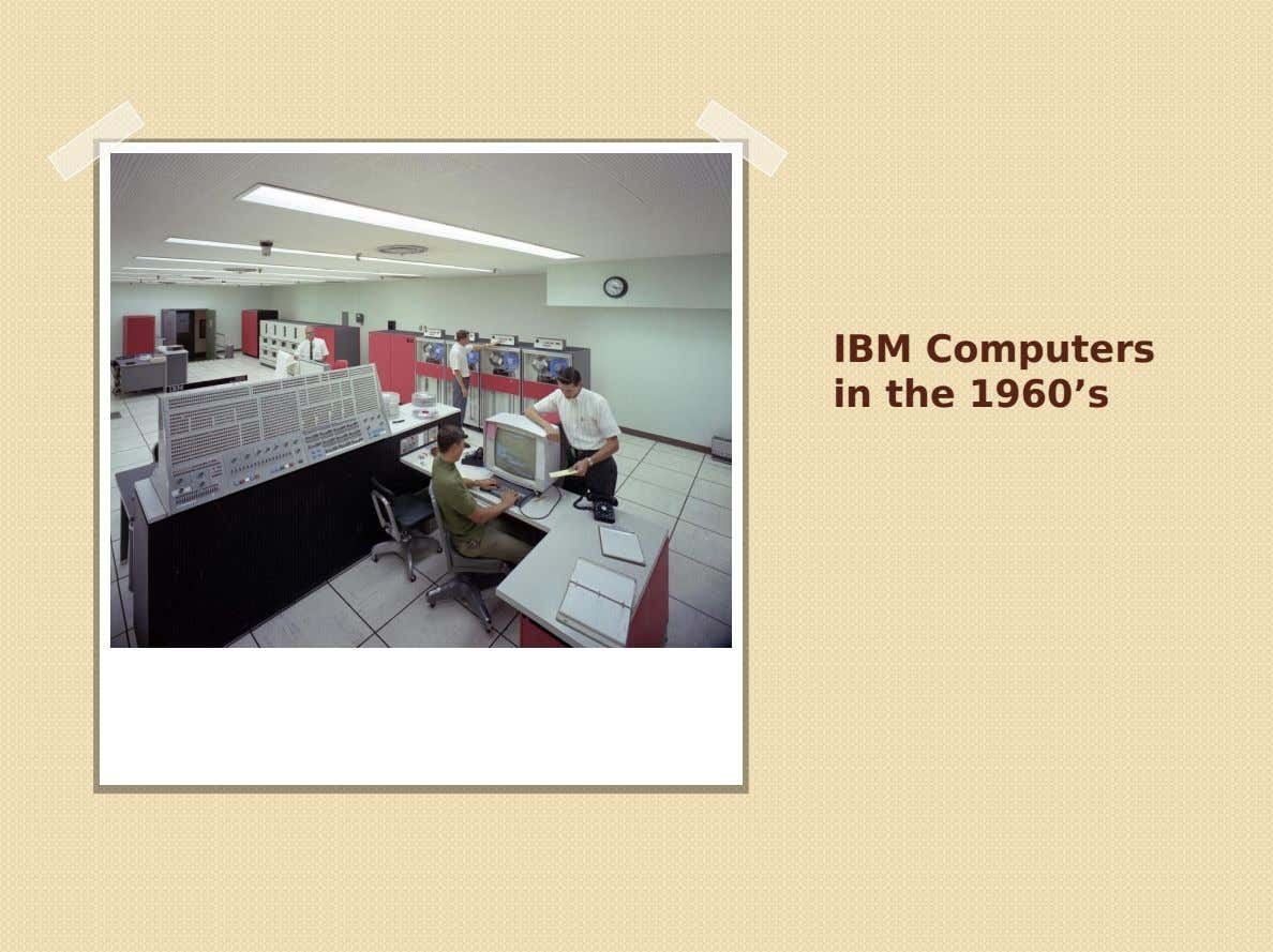 IBM Computers in the 1960's