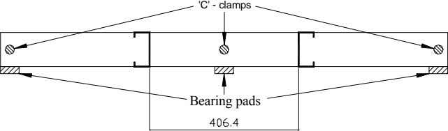 'C' - clamps Bearing pads