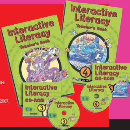 3 & 4 retails at £125 + VAT. For further information, see www.smart-learning.co.uk. Summer 07 speechmag