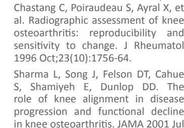 Dunlop DD. The role of knee alignment in disease progression and functional decline in knee osteoarthritis.