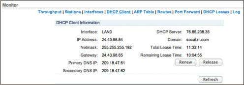 is operating as a DHCP client of an external DHCP server. Interface Displays the interface that