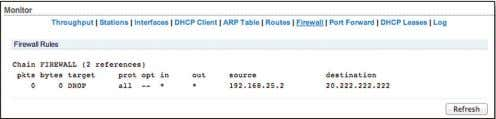 in the FIREWALL chain of the standard iptables filter table. Firewall Rules IP and MAC level