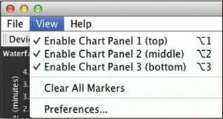 Chapter 3: Ubiquiti Logo View Menu Enable Chart Panel 1 (top) Displays the Waterfall or Channel