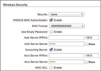 support this option, we recommend that you select it. None RADIUS MAC Authentication You can authenticate