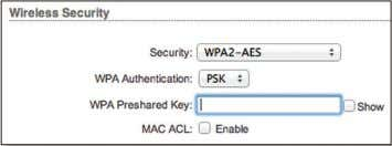 support this option, we recommend that you select it. WPA Authentication Specify one of the following