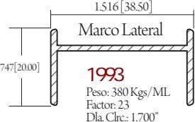 1.516 [38.50] Marco Lateral 747[20.00] 1993 Peso: 380 Kgs/ML Factor: 23 Dla. Clrc.: 1.700""