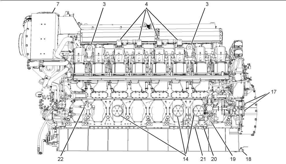 18 General Information Model View Illustrations SEBU7876 Illustration 16 View of the left side of the