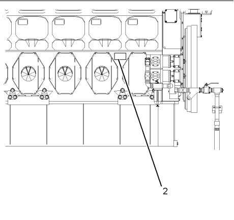 covers on the right-hand side of the engine. Serial Number Plate Illustration 31 (2) Engine serial