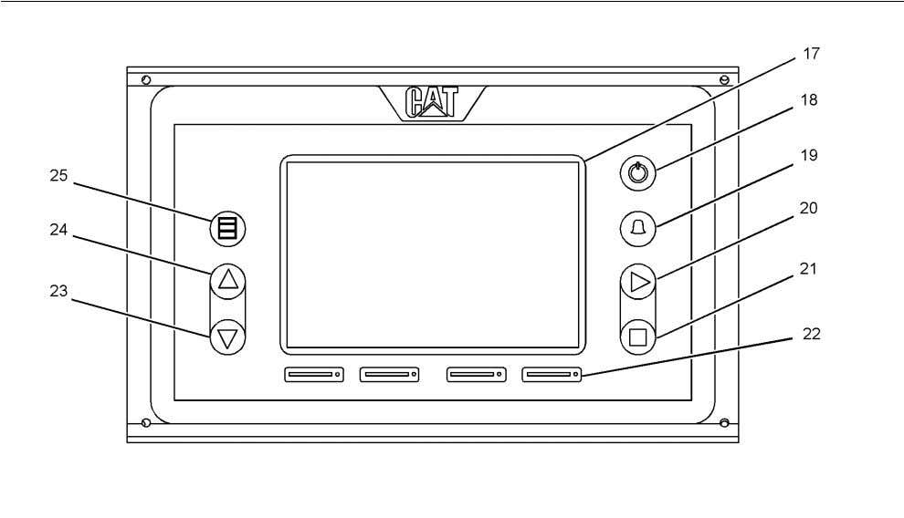 38 Features and Controls Control Panel SEBU7876 Illustration 39 DCU Panel (17) LCD screen (18) ""