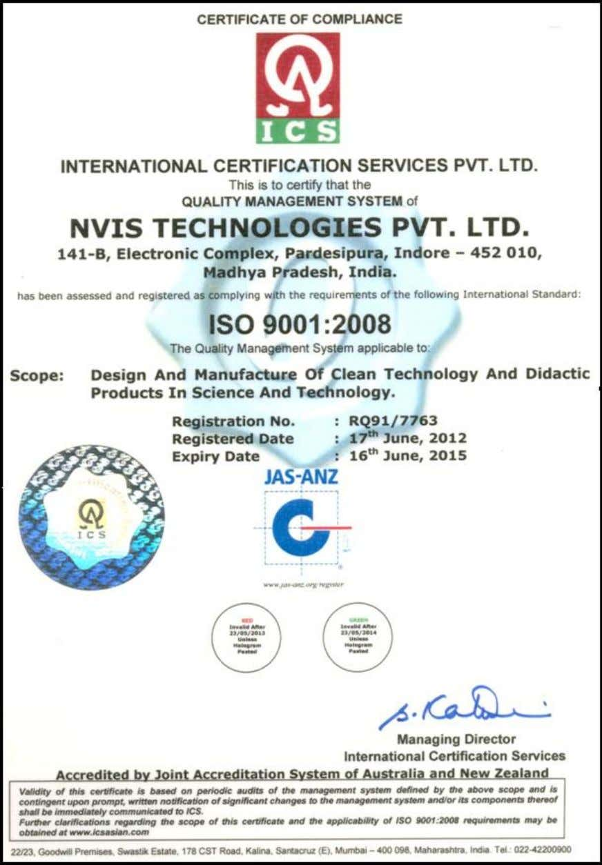 Nvis 5586A Nvis Technologies Pvt. Ltd. 2