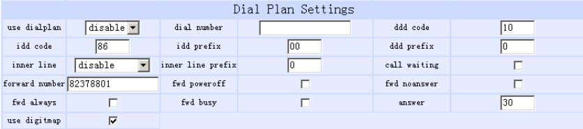 switches to PSTN prefix such as 9. Dial Plan Settings : ● Fig 1.4 Dial Plan