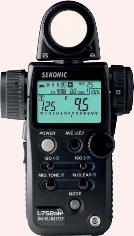 Handheld light meter Among the main manufacturers that produce handheld light meters are Gossen and