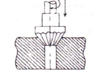 in a drilled hole • Counter Sinking - It is an operation to produce, cone shaped