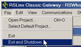 software open, from the File menu choose Exit and Shutdown. Obtain and install the software required