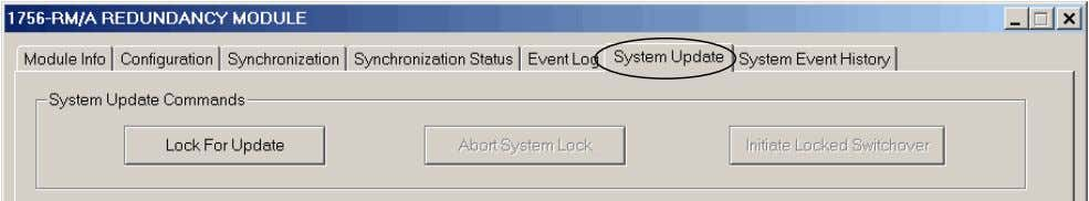 Revision 16.057_kit1 31 2. Click the System Update tab. 3. Click Lock for Update, then click
