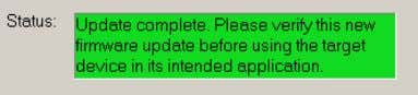the Update status dialog box indicates completion. 7. If you are replacing and upgrading your controller