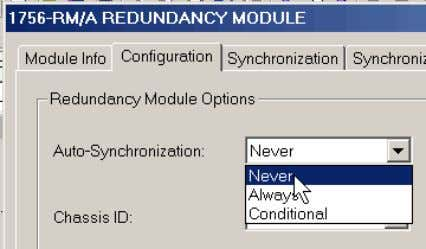 from the Auto-Synchronization pull-down menu, choose Never. 3. In the Synchronization tab, click Disqualify Secondary.