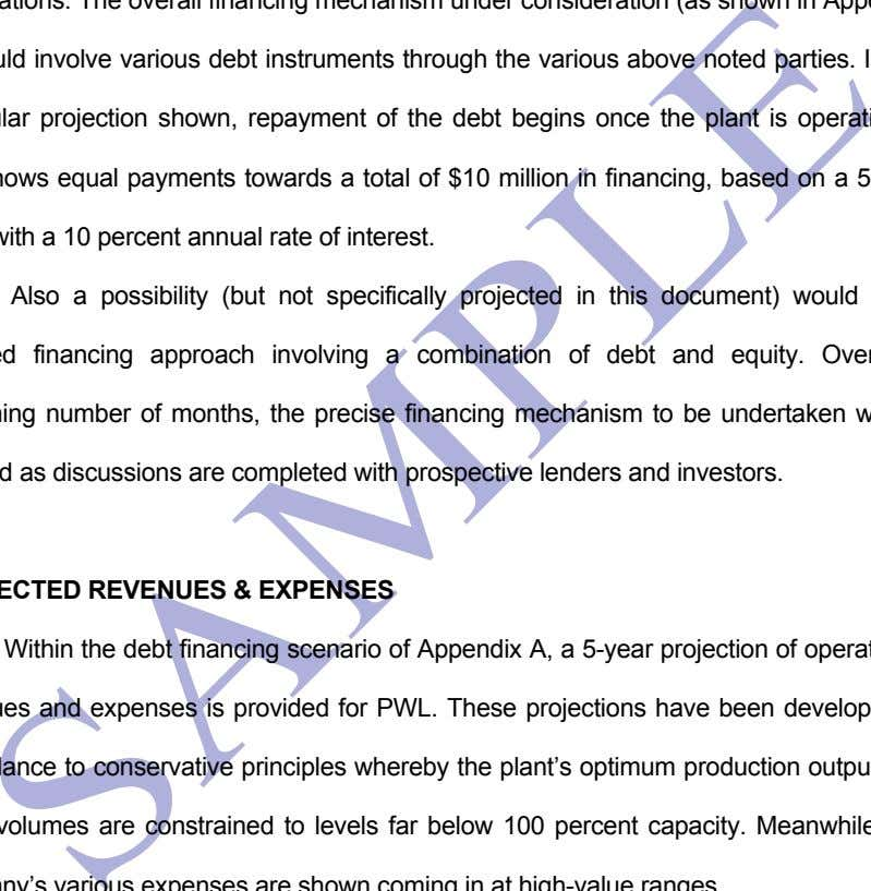 mechanism under consideration (as shown in Appendix A) would involve various debt instruments through the