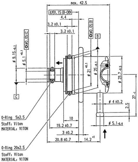 steel housing with manifold connection Reflow   Order number Offer drawing B 280 550 113 A