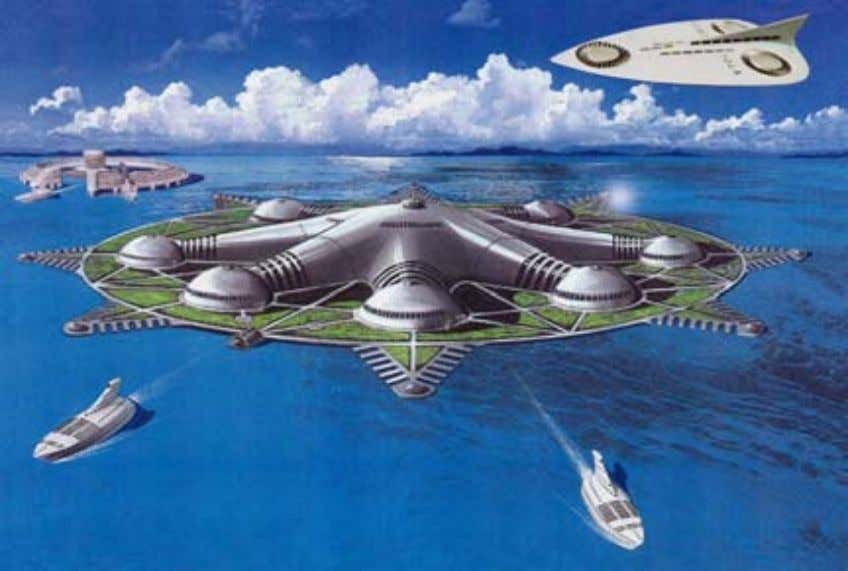 62 Artificial Islands in the Sea This artificial island in the sea is designed to serve