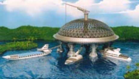 ocean farming, as well as tidal and wind power and more. Construction of a Floating Mega-Structure