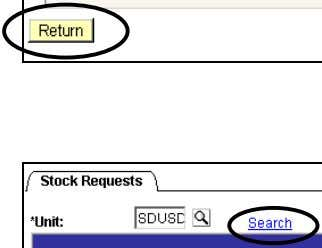details select Picking Details hyperlink. Picking Details To return to the Stock Page click RETURN. Click