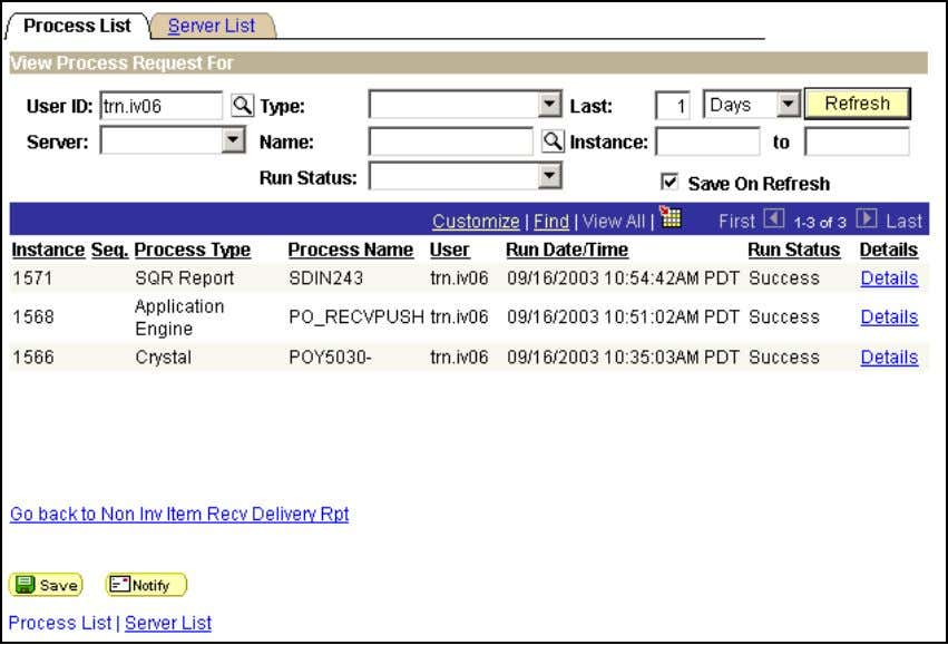 DWA Project Inventory Process Monitor Click Details. Click View Trace/Log. 56