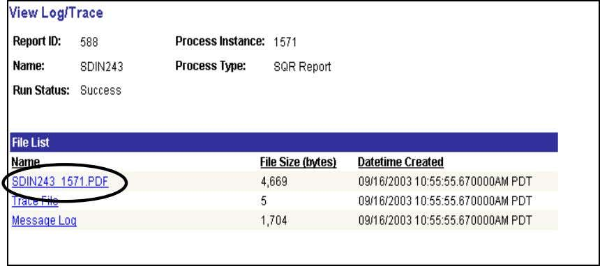 DWA Project Inventory View Trace Log Click SDIN243 1571.PDF Receiving Delivery Report This report should be