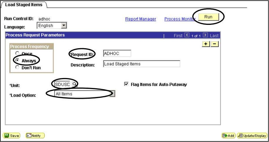 DWA Project Inventory Load Staged Items Step Field Name Information to Enter 2.2 Process Frequency