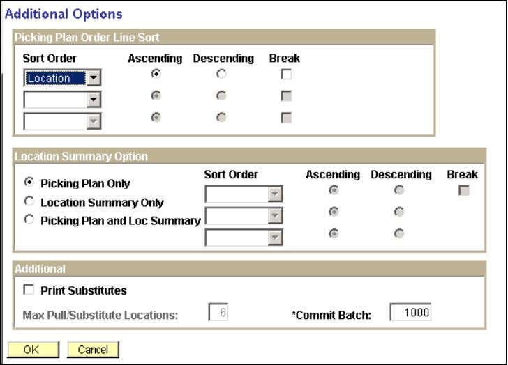 DWA Project Inventory Additional Options Step Field Name Information to Enter 2.6 Sort Order Enter Sort