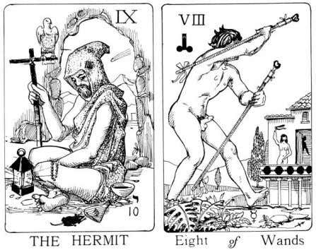 R. B-B seems unswervingly heterosexual in his imagery. The Tantric tarot by another British magician, Keith