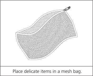 Place delicate items in a mesh bag.