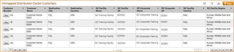 Distribution Center Customers from the DC import files. 1.2. ! U NCONFIRMED A CTIVITIES Q UEUES
