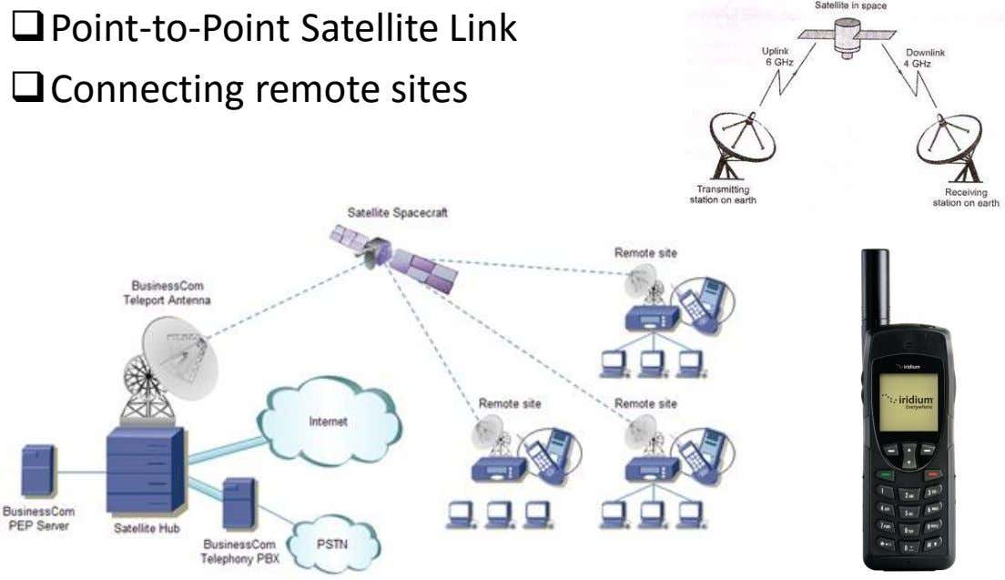 Point-to-Point Satellite Link Connecting remote sites