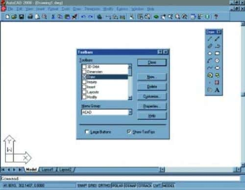 SOFTWARE Figura 3– Draw – Toolbar. Figura 5 – Visualização da Toolbar Figura 6 –